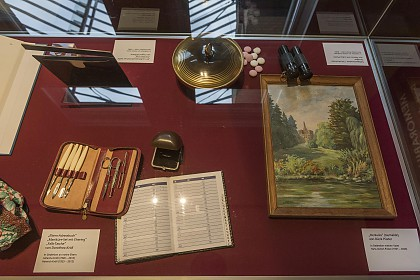 Individual memorabilia, which were made available to the museum for the exhibition.
