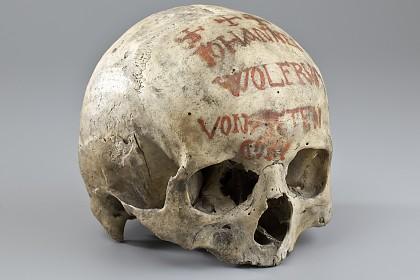 Bemalter Schädel, 1800-1900