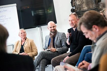 Kristina Beer, Dr. Dirk Pörschmann und Moritz Rappert
