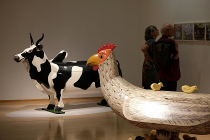 Henne und Kuh