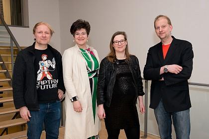 von links nach rechts: Jochen Schmidt, Nora Gomricher, Kirsten Fuchs und Michael Stauffer.
